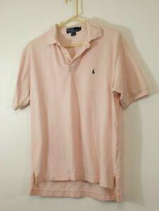 680c8d8a70c POLO Ralph Lauren Men s Size Large Pale Pink Blue Pony Polo Shirt ...