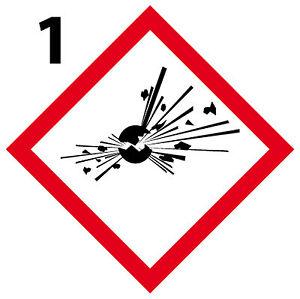 Explosif Lot 4 Stickers Autocollant Danger Interdit Obligatoire [10cm] Ghs1 Haute Qualité Et Bas Frais GéNéRaux
