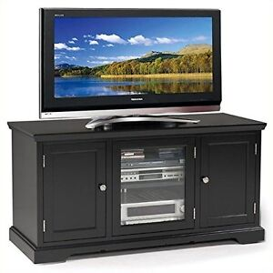 Leick Furniture 83350 Black Hardwood Tv Stand 50 Inch 689367197174