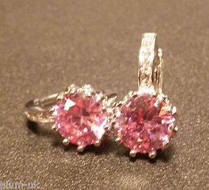 FH-Round-pink-amp-white-sapphires-WHITE-GOLD-gf-French-hoop-earrings-BOXD-Plum-UK