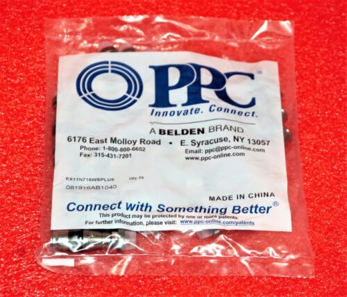 400 PPC EX11 RG11 COAX COMPRESSION CONNECTORS PPC EX11N716WS PLUS CLR #OV