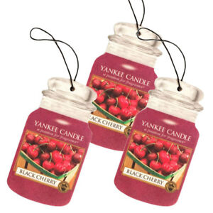 Yankee-Candle-Classic-Car-Jar-Hanging-Air-Freshener-Black-Cherry-Scent-3-Pack