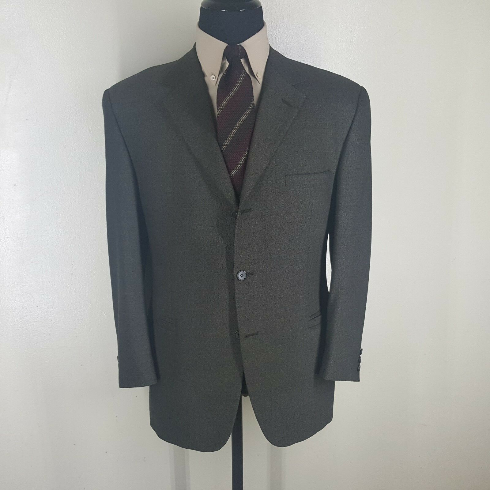 VERSACE Classic V2 Vintage Sport Coat Made In USA 3 Btn No Vernts  Fit 42-44 Reg