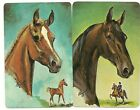 Swap Playing Cards 2 single Vintage Artist Horses Horse Heads