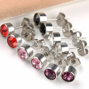 5pairs-Mixed-Crystal-Rhinestone-Stainless-Steel-Ear-Studs-Earring-Lot-Gift