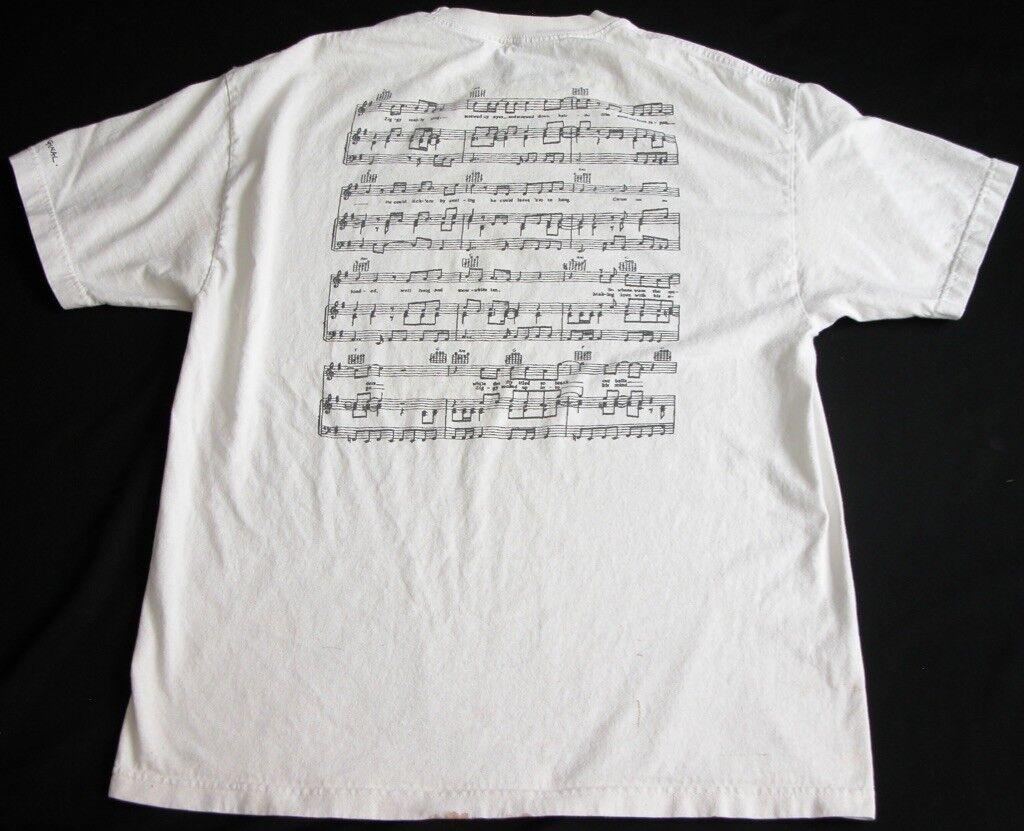 Rare Ziggy Stardust Sheet Music Lyrics David Bowie T Shirt  Herren XL