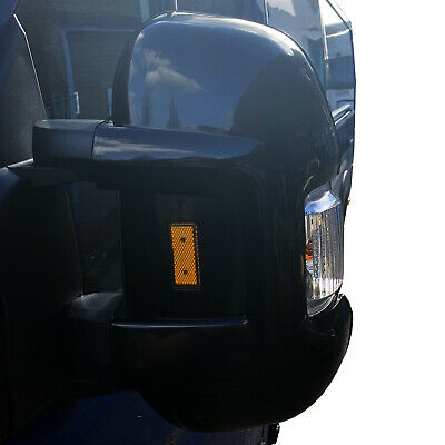 PEUGEOT BOXER SHORT ARM MIRROR PROTECTORS GUARDS with Front and Rear REFLECTORS Fiat Ducato Peugeot Boxer Citroen Relay
