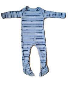 Mothercare Bébé Garçon Manches Longues Corps Costume Ange 18-24 mois bleu blanc rayures