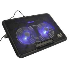 """USB 2 Fan Cooler Air Cooling Pad Foldable Stand for 12"""" to 15"""" Laptop Notebook"""
