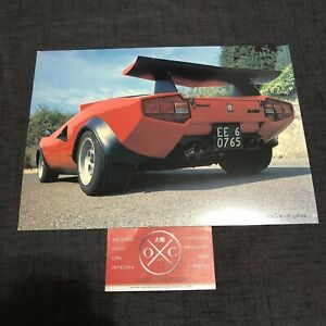 Details about Vintage Lamborghini Countach Print Advertisement Brochure  Poster Rare LP500 JDM