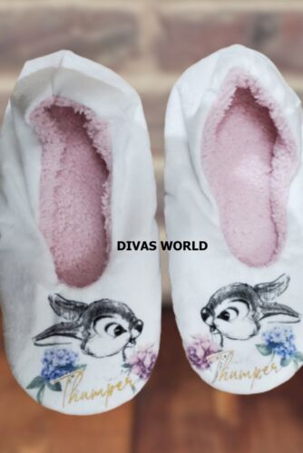 Disney Thumper chaussons chaussettes femme footlet Rabbit White Ladies footlets UK 3-8