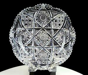 ABP-AMERICAN-BRILLIANT-PERIOD-CUT-CRYSTAL-HOBSTAR-amp-BUTTONS-8-7-8-034-LOW-BOWL-1890