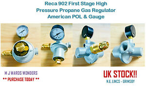 Details about Reca 902 First Stage High Pressure Propane Gas Regulator -  American POL & Gauge