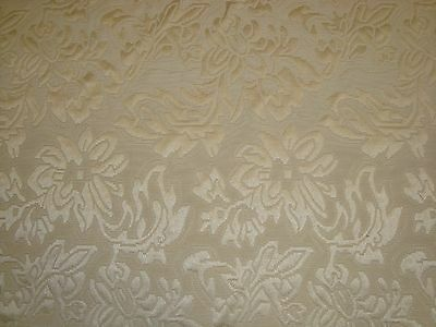 """ONE YARD MATELASSE JAQUARD ROSES PEARL FABRIC UPHOLSTERY 58"""" x 36"""" BTY (6yds)"""