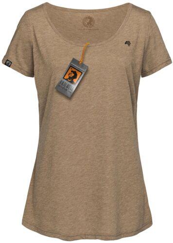 Farbe STN 9950 Damen Oversized Melange T-Shirt COMPANIEER Vintage Braun PINK