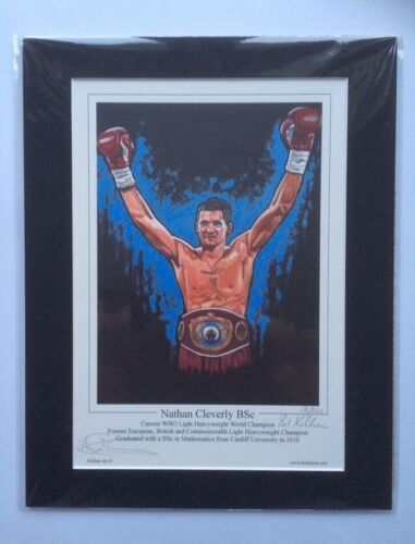 Boxing Nathan Cleverly Signed Art Print