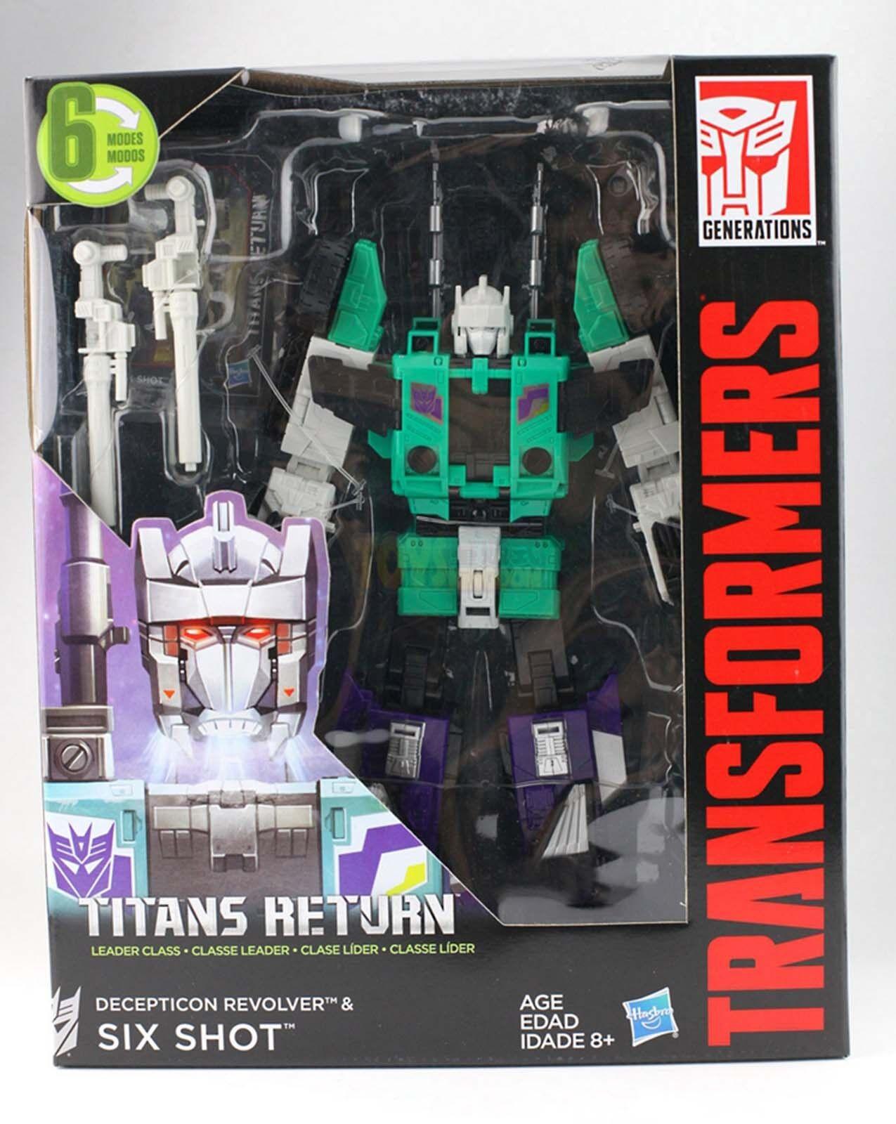 Transformers Generations Titans Return Leader Class SIXSHOT Six Shot Gift Kids N