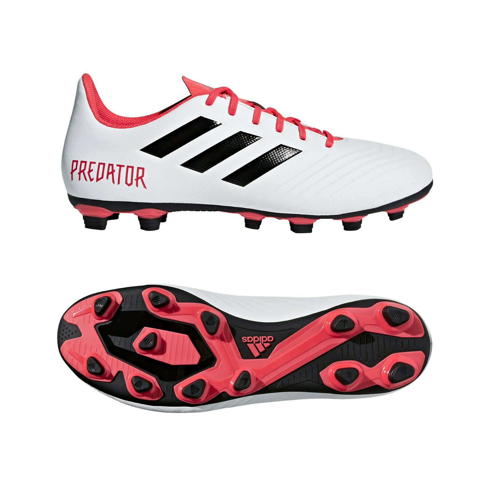Adidas Protator 18.4 FxG 42-46 Fußballschuh Fußballschuh Fußballschuh Flexible Ground weiß rot schwarz NEU    Reichhaltiges Design  a3f052