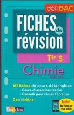 TERMINALE S CHIMIE spécifique FICHES DE REVISION Bac Bordas