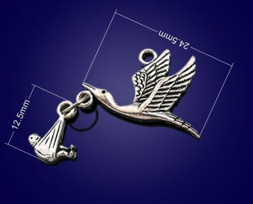 10PC Tibetan silver bird diao child Bead Charms Accessories wholesale PJ1613