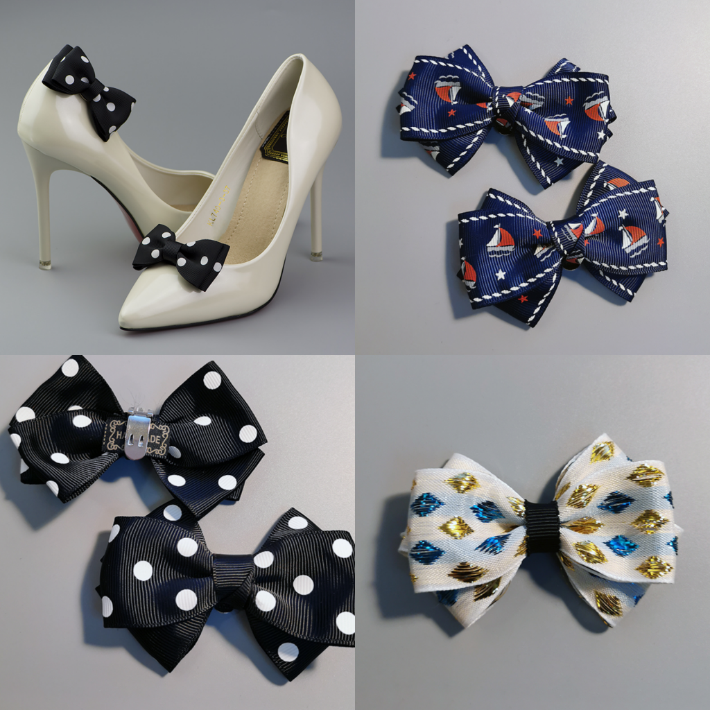 Women Shoe Charms Clips Boots A Pair DIY Shoes Tools Bow Shoes Accessories