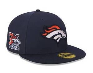 c08386619af Official NFL 3X Super Bowl 50 Champions Denver Broncos Hat New Era ...