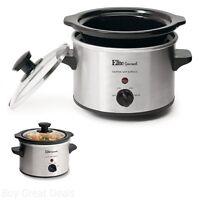 Elite Gourmet Crock Pot Portable 1-1/2-quart Slow Cooker 120w Cool-touch Handles