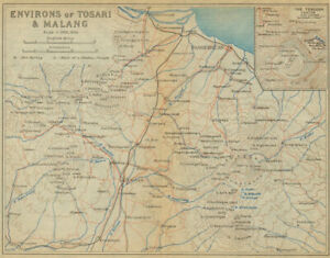 Indonesia 1920 Map To Make One Feel At Ease And Energetic East Java Tosari Malang & Environs Pasuruan & Mount Bromo