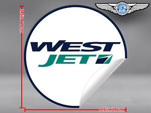WESTJET-WEST-JET-ROUND-LOGO-STICKER-DECAL