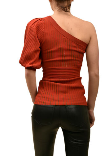 One Xs Top Kobo Womens Ronny Red Shoulder Taglia Slim Rib Knit xIEvwHw