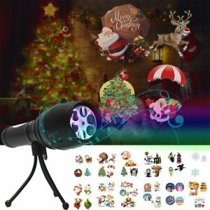 Commercial Lighting 12 Pattern Projection Flashlight Music Snowflake Lights Christmas Halloween Birthday Home Party Led Light Outdoor Landscape Lamp Lights & Lighting