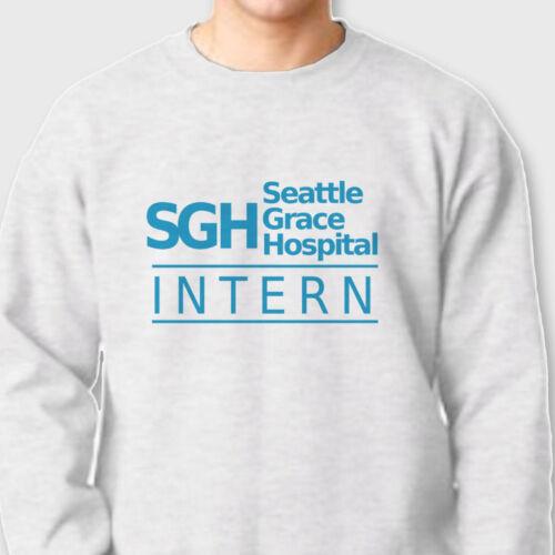Seattle Grace Hospital INTERN T-shirt TV show Greys Anatomy Crew Neck Sweatshirt