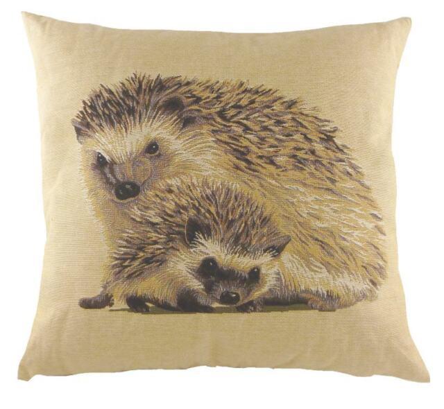 "18"" HEDGEHOG Belgian Tapestry Cushion Evans Lichfield British Wildlife LC489"