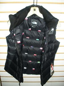 aa1164a29 Details about THE NORTH FACE WOMENS IC NUPTSE DOWN VEST- JACKET-A3BZF- FLAG  PRINT- S