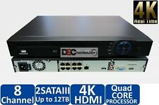 Dahua NVR4208-8p-4k 8 channel NVR Network Video Recorder 2 HDD NVR 1-12mp IP POE
