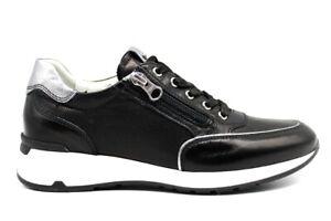 Nero-Giardini-P907531D-Nero-Sneakers-Scarpe-Donna-Calzature-Comode