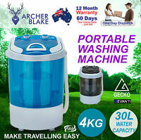 4kg Mini Load Portable Washing Machine Camping Caravan Machine Top Load