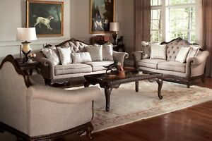 Beau Image Is Loading ELEGANT PLEATED TUFTED BROWN CHENILLE SOFA Amp LOVE