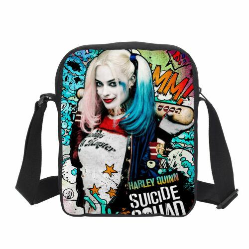 Suicide Squad Harley Quinn Large Backpack 4PCS School Bag Set Gift Wholesale
