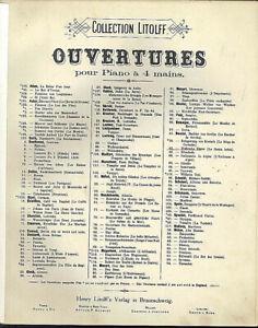 Rossini-Ouverture-Diebische-Elster-alte-uebergrosse-Noten-4-haendig