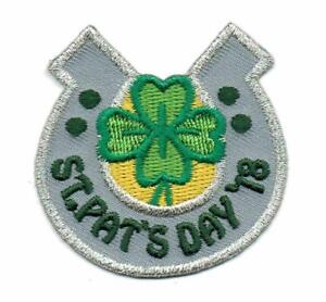 Details about Girl Boy Cub ST  PATRICK'S DAY 2018 Fun Patches Crests Badges  SCOUTS GUIDE party