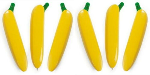 LOW PRICE SUPER FAST SHIPPING!! LOT OF 6 BANANA PENS FOR YOUR MONKEY PARTY