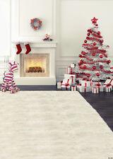 Merry Chrismas Tree fireplace Backdrop Vinyl Photography Photo Background 5X7FT