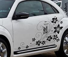 Schmetterling Blume Autoaufkleber Autotattoo Wandtattoo Farbauswahl ORACAL 651