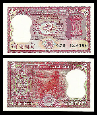 ND India UNC /> Red Tiger P-53Ae 2 Rupees