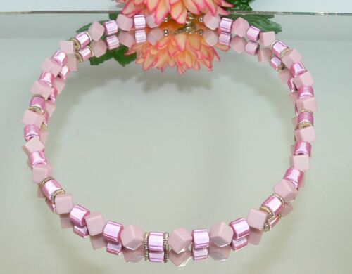 XL cadena hermosas Miracle laminado rosa cubo diagonalmente OPAC rosa 50 cm 360e