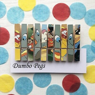 Red Glittered Wooden Clip Magnets Peg Design Set of 5 or 10 ~ Fridge Magnets
