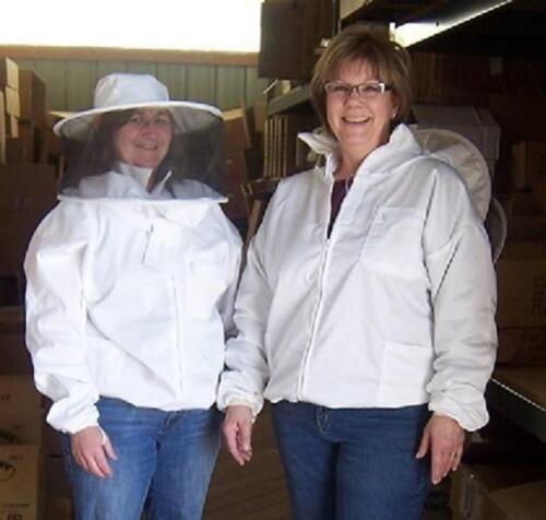 Beekeeping Zip Up Jacket With Zip On Hood//Veil Size 2X-Large