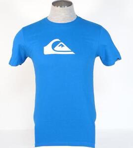 Quiksilver-Logo-Blue-Short-Sleeve-Tee-T-Shirt-Mens-NWT