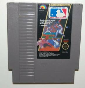 Image Is Loading NES Nintendo 1987 MLB Baseball GAME CARTRIDGE